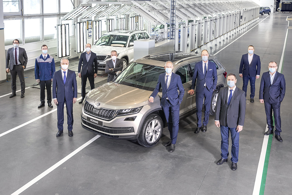 Production of the 400,000th car using the completely knocked-down (CKD) method at Nizhny Novgorod plant