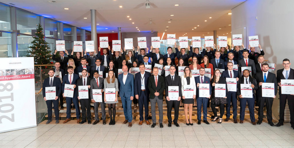 Volkswagen Group honors its best apprentices